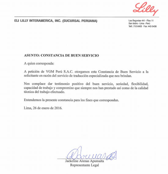 escaneo de documento de testimonio de Eli Lilly
